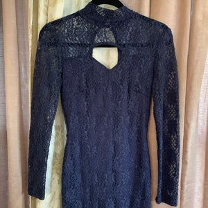 Blue Lace Cocktail Dress